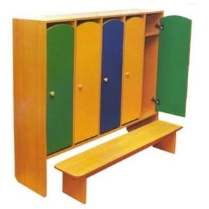 шкаф пятисекционный ст скамьей