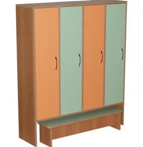 шкаф четырехсекционный со скамьей